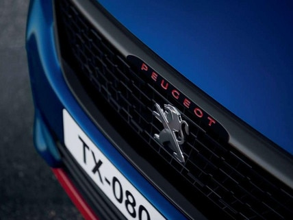 PEUGEOT 308 GTi by PEUGEOT SPORT grille, red lettering, front panel