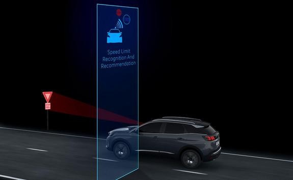 New PEUGEOT 3008 SUV -  Speed limit sign recognition and recommendation