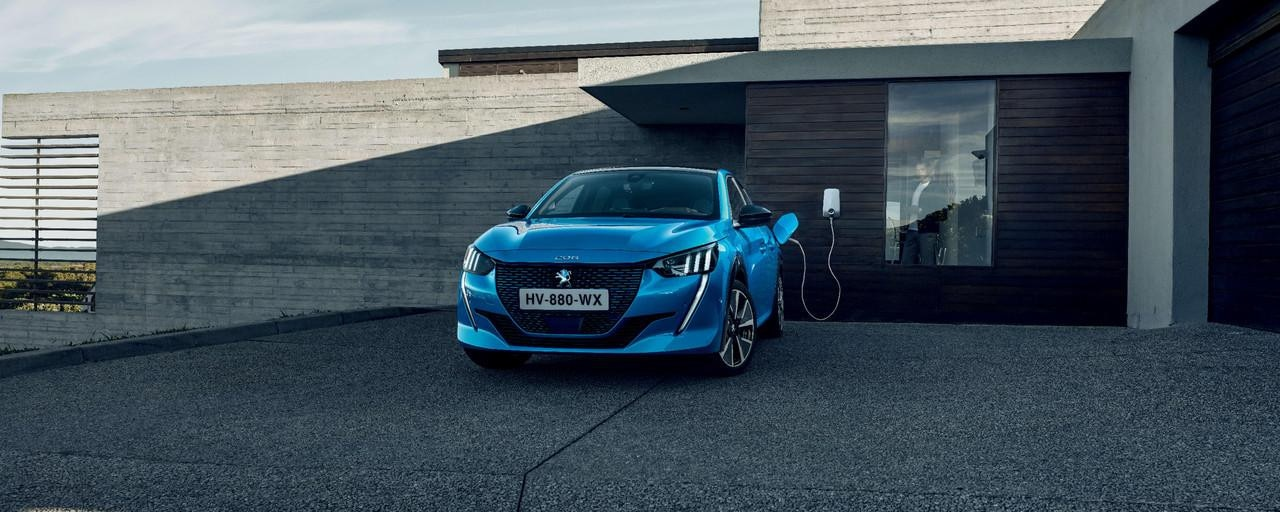 All-new Peugeot e-208 - home charging at a Wallbox